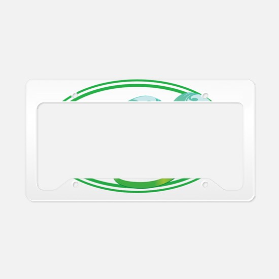 Beach Flip Flops Seaweed Gree License Plate Holder