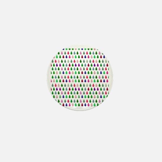 Colorful Raindrops Mini Button
