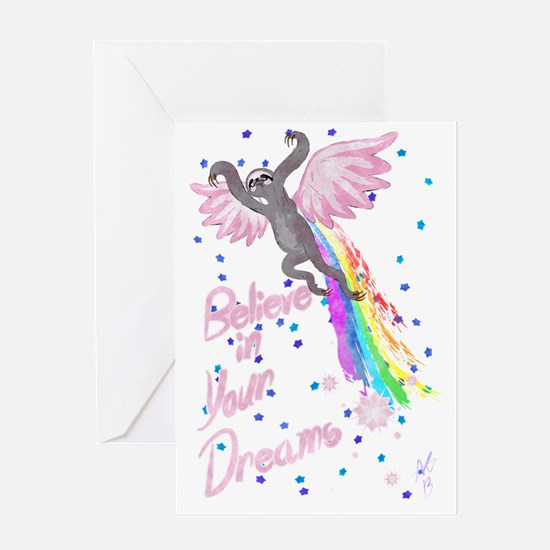 Believe in Your Dreams Sloth Greeting Card