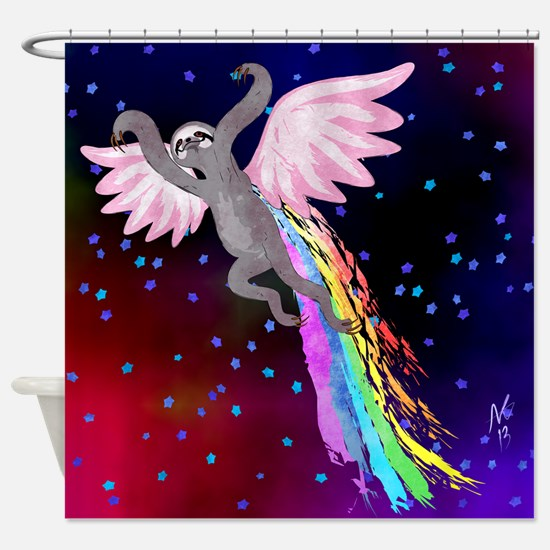 Believe in Your Dreams Sloth Shower Curtain