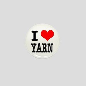 I Heart (Love) Yarn Mini Button