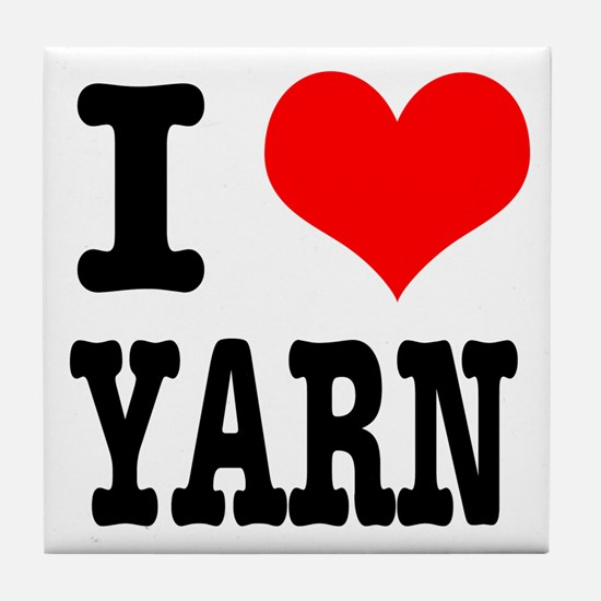I Heart (Love) Yarn Tile Coaster