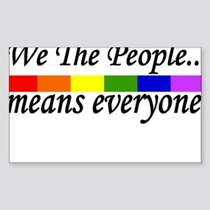 we the people Rectangle Sticker 10 pk) Sticker