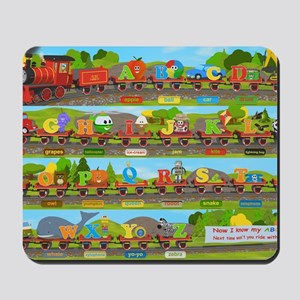 Alphabet Train Poster XL, 36x24, Great T Mousepad