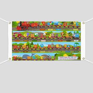 Alphabet Train Poster XL, 36x24, Great Trai Banner