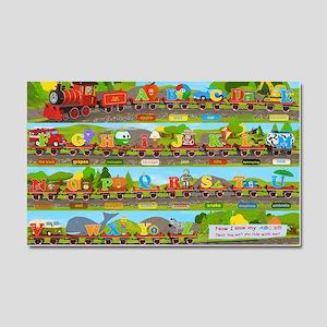 Alphabet Train Poster XL, 36x24 Car Magnet 20 x 12