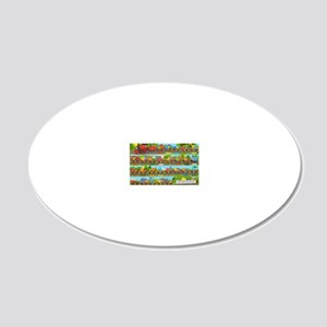 Alphabet Train Poster XL, 36 20x12 Oval Wall Decal