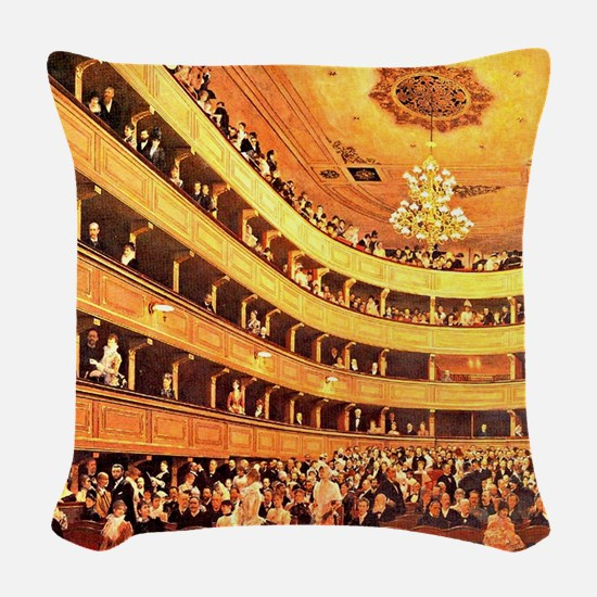 Klimt: The Old Burgtheater Woven Throw Pillow