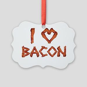 I Love Bacon Picture Ornament