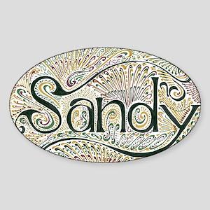 Sandy Sticker (Oval)