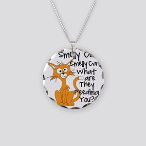 Smelly Cat Necklace Circle Charm