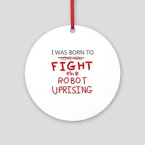 Robot Uprising Round Ornament