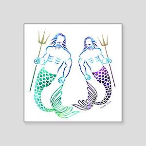 Merman Couple Sticker