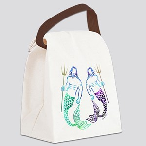 Merman Couple Canvas Lunch Bag