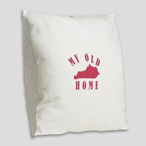 My Old Kentucky Home Burlap Throw Pillow