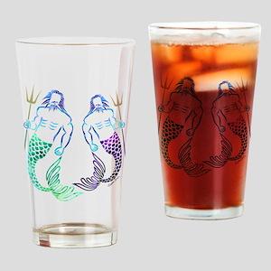 Merman Couple Drinking Glass