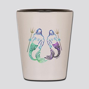 Merman Couple Shot Glass
