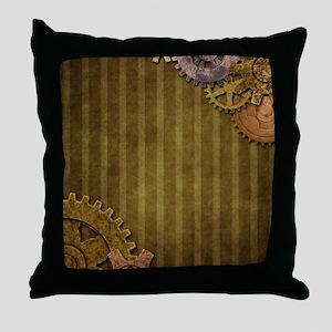 Steam Dreams: Gears Wall 3 Throw Pillow
