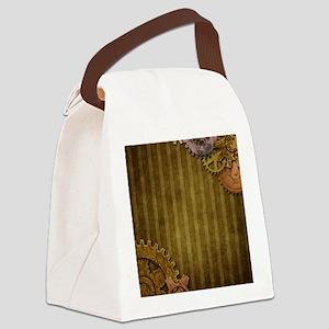Steam Dreams: Gears Wall 3 Canvas Lunch Bag