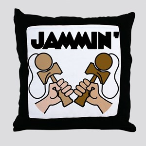 brown Jammin Throw Pillow