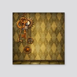 "Steam Dreams: Keys Square Sticker 3"" x 3"""