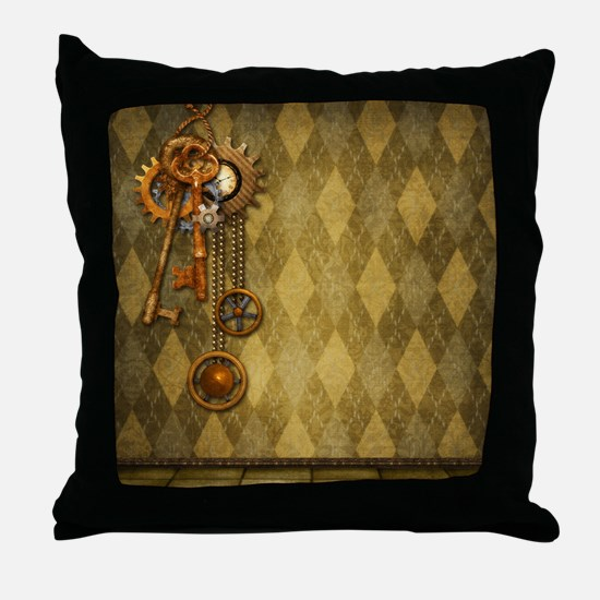 Steam Dreams: Keys Throw Pillow