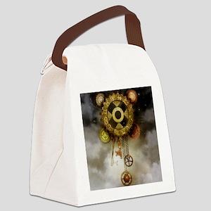 Steam Dreams: Sky Clock Canvas Lunch Bag