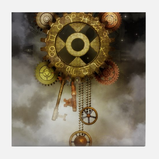 Steam Dreams: Sky Clock Tile Coaster