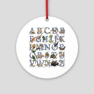 Animal Alphabet Round Ornament