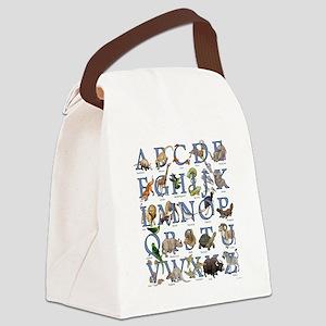 Animal Alphabet Canvas Lunch Bag