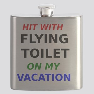 Hit with Flying Toilet on my Vacation Flask