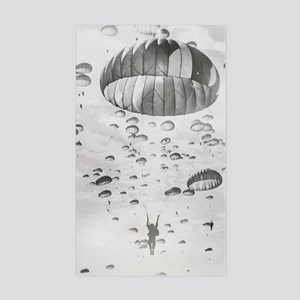 Vintage Paratrooper Sticker (Rectangle)