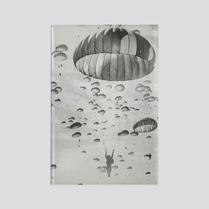Vintage Paratrooper Rectangle Magnet