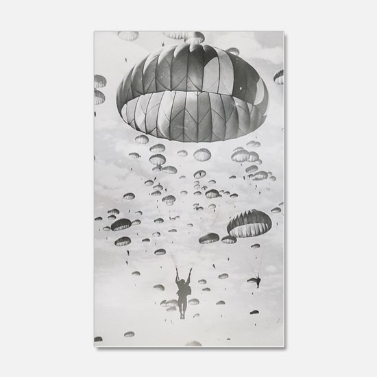 Vintage Paratrooper Decal Wall Sticker