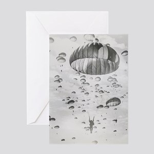Vintage Paratrooper Greeting Card