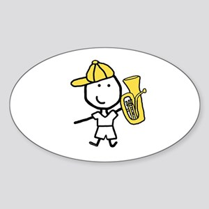 Boy & Baritone Oval Sticker