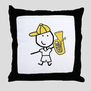 Boy & Baritone Throw Pillow
