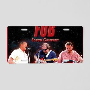 FOB Sound Company mini post Aluminum License Plate