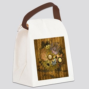 Steam Dreams: Gear Wall Canvas Lunch Bag