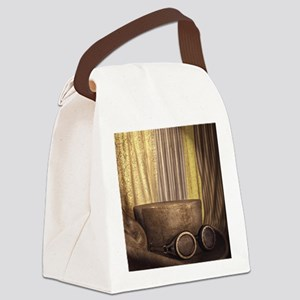 Steam Dreams: Top Hat and Goggles Canvas Lunch Bag
