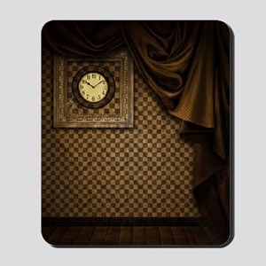 Steam Dreams: Curtains Clock and Wall Mousepad