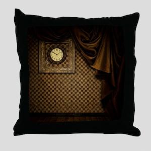 Steam Dreams: Curtains Clock and Wall Throw Pillow