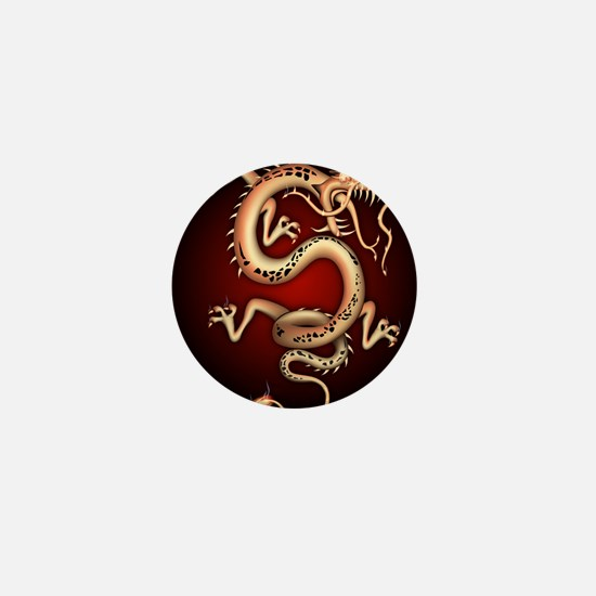 Lucky Chinese Dragon Mini Button