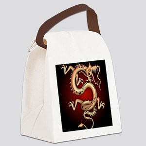 Lucky Chinese Dragon Canvas Lunch Bag