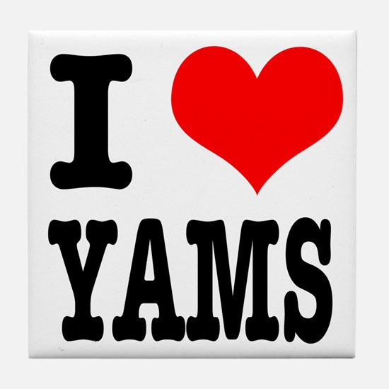I Heart (Love) Yams Tile Coaster