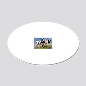 Family portrait 20x12 Oval Wall Decal