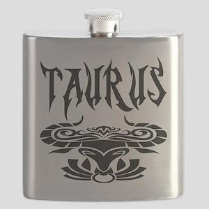 Taurus black letters Flask