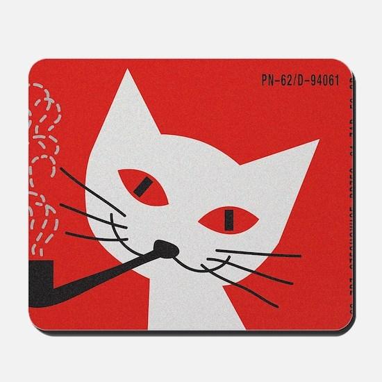 Pipe Cat Mousepad