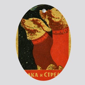 Belka and Strelka Oval Ornament