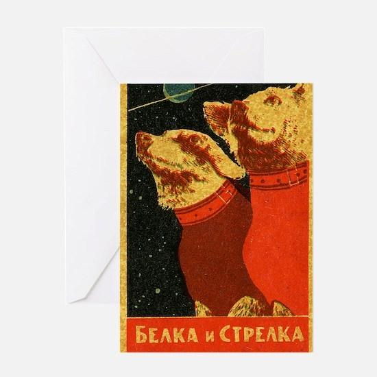 Belka and Strelka Greeting Card